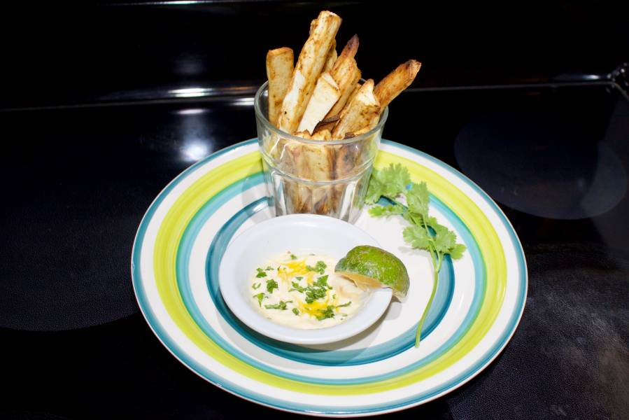 Seasoned Chili Yuca Fries Cut The Crap Kitchen Costa